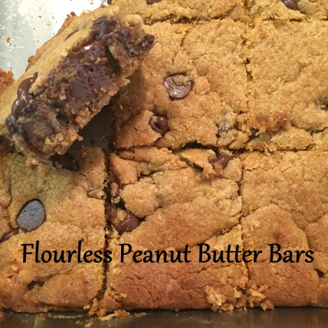 Flourless Peanut Butter Bars